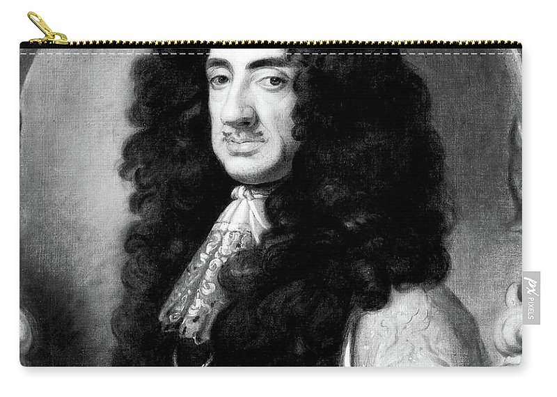 1675 Carry-all Pouch featuring the painting Charles II (1630-1685) by Granger