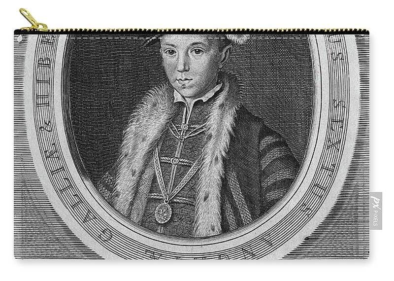 16th Century Carry-all Pouch featuring the painting Edward Vi (1537-1553) by Granger