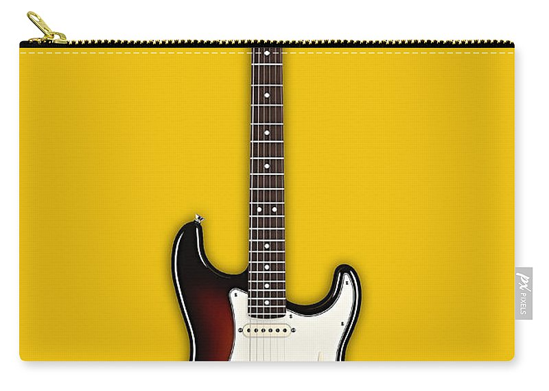Fender Stratocaster Carry-all Pouch featuring the mixed media Fender Stratocaster Collection by Marvin Blaine