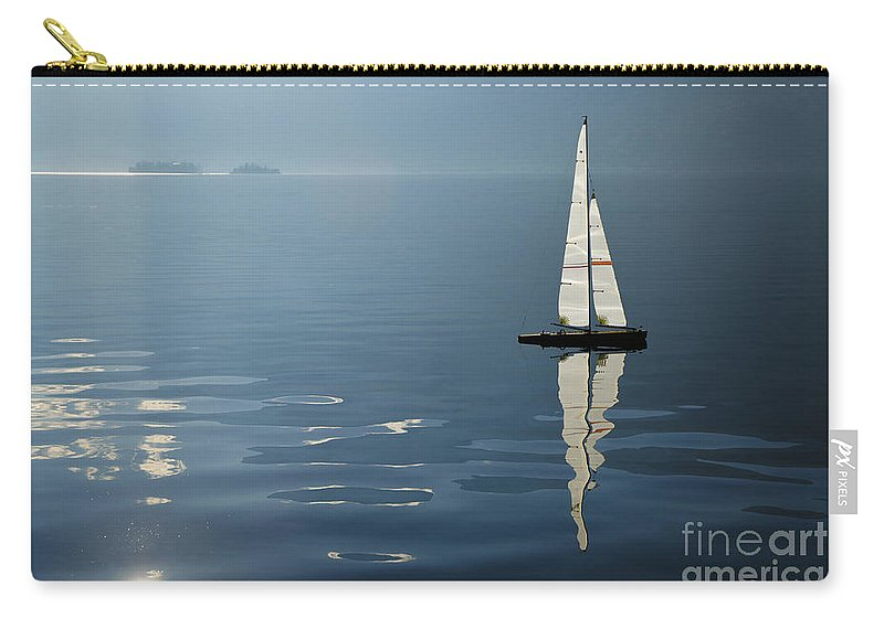 Sailing Boat Carry-all Pouch featuring the photograph Sailing Boat by Mats Silvan