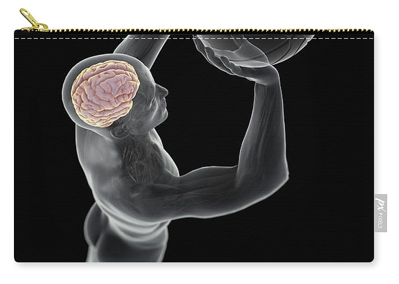 Thought Carry-all Pouch featuring the photograph Basketball Shot by Science Picture Co