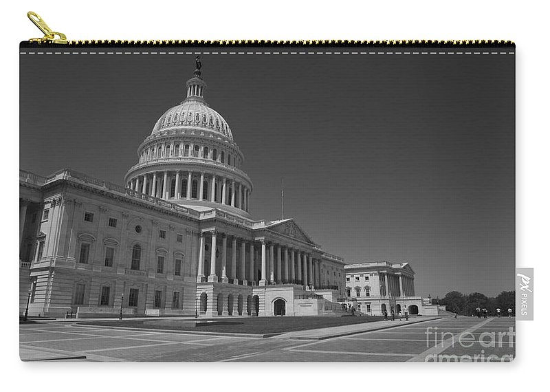 Us Carry-all Pouch featuring the photograph Us Capitol Building by B Christopher