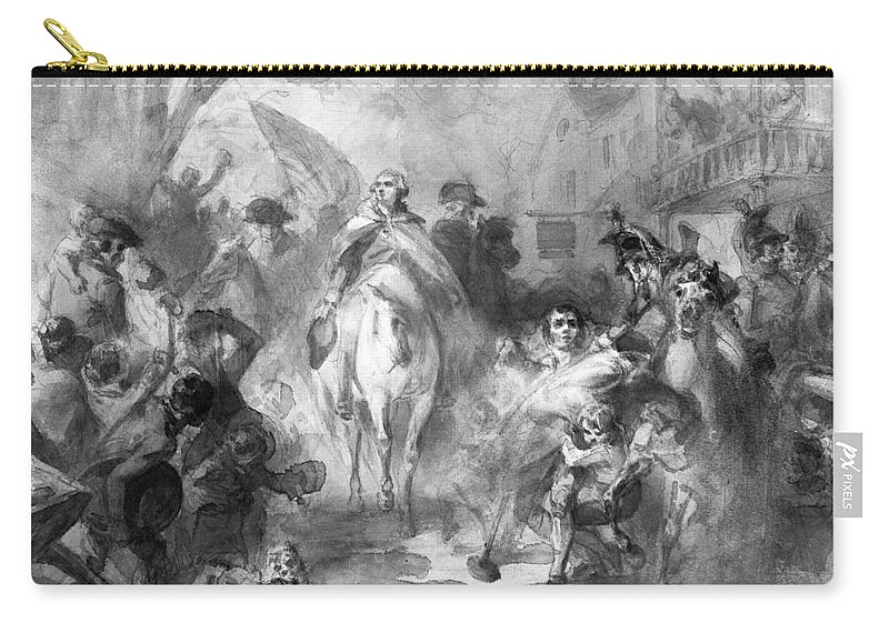 1783 Carry-all Pouch featuring the photograph George Washington by Granger