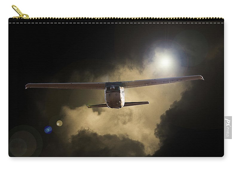 Cessna 172 Skyhawk Carry-all Pouch featuring the photograph 172 by Paul Job