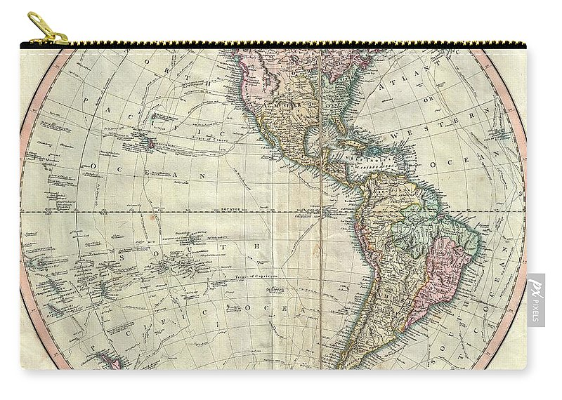 1799 Cary Map Of The Western Hemisphere Carry-all Pouch for Sale by Cary Map on
