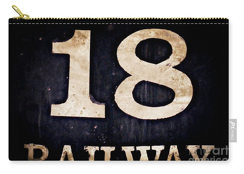 18 Carry-all Pouch featuring the digital art 18 Railway by Valerie Reeves