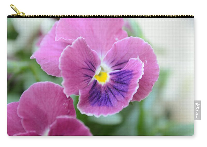 Art Carry-all Pouch featuring the photograph Viola Tricolor Heartsease by Michael Goyberg