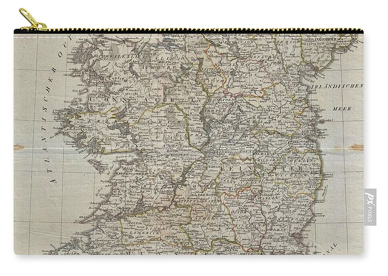 An Uncommon Map Of Ireland Dating To 1804. Though Published By The German Geographical Institute Carry-all Pouch featuring the photograph 1804 Jeffreys And Kitchin Map Of Ireland by Paul Fearn
