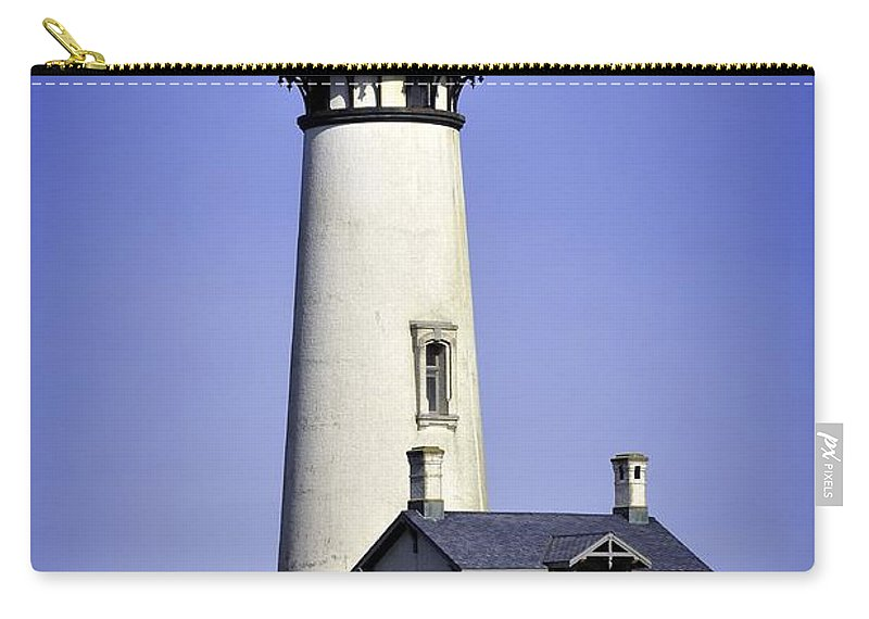 Newport Carry-all Pouch featuring the photograph 1872 Historic Lighthouse by Image Takers Photography LLC - Laura Morgan