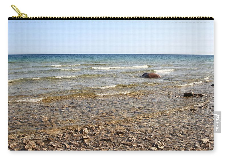 America Carry-all Pouch featuring the photograph Lake Huron by Frank Romeo