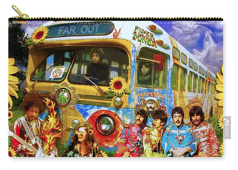 1967 Carry-all Pouch featuring the photograph 19 Sixty 7 by John Anderson