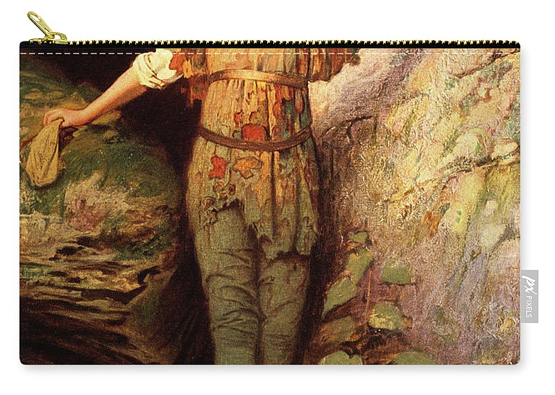 Vertical Carry-all Pouch featuring the painting 1900s Painting Of Actress Maude Adams by Vintage Images