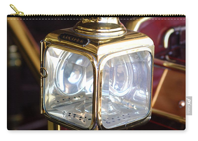 1907 Panhard Et Levassor Lamp Carry-all Pouch featuring the photograph 1907 Panhard Et Levassor Lamp by Jill Reger