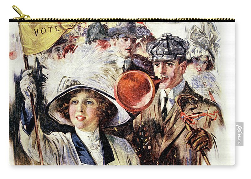 Vertical Carry-all Pouch featuring the painting 1910s 1912 Cover Sunday Magazine by Vintage Images