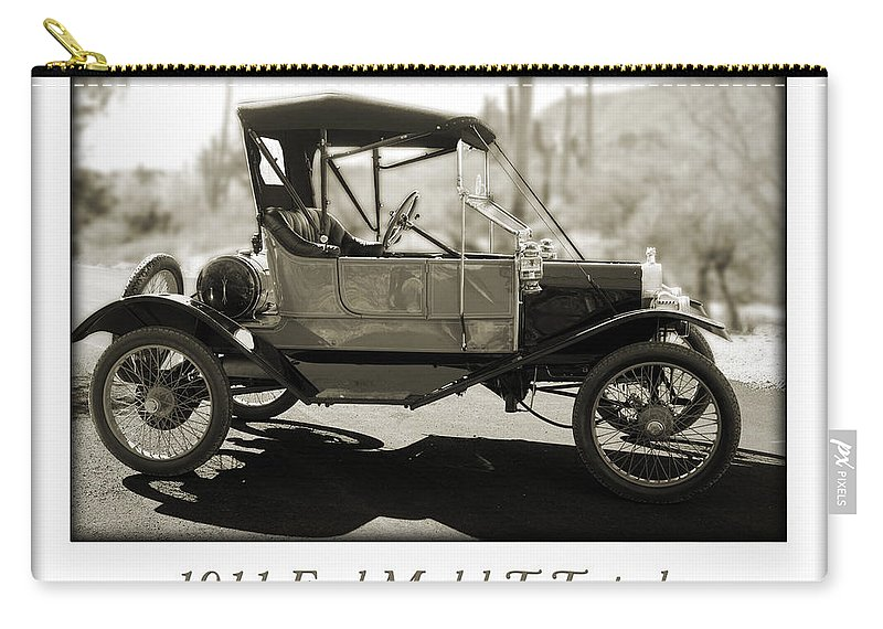 1911 Ford Model T Torpedo Carry-all Pouch featuring the photograph 1911 Ford Model T Torpedo by Jill Reger