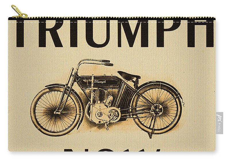 1913 Carry-all Pouch featuring the photograph 1913 Triumph Now by Bill Cannon