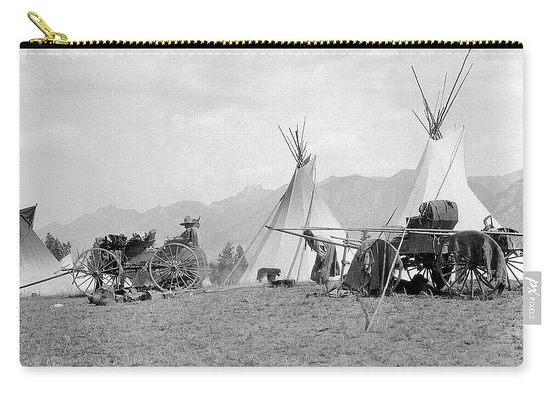 Photography Carry-all Pouch featuring the photograph 1920s 1930s Native American Kootenai by Vintage Images