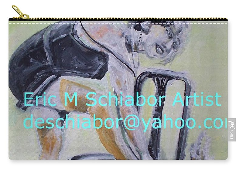 1920 Carry-all Pouch featuring the painting 1920s Girl by Eric Schiabor