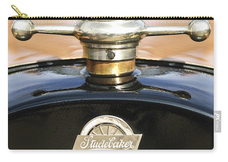 1922 Studebaker Touring Carry-all Pouch featuring the photograph 1922 Studebaker Touring Hood Ornament by Jill Reger