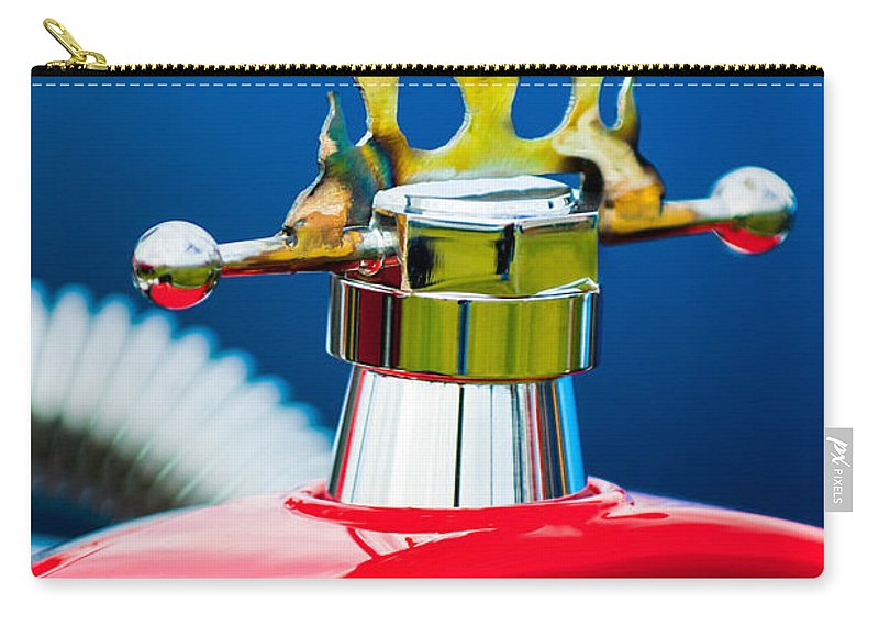 1923 Ford T-bucket Carry-all Pouch featuring the photograph 1923 Ford T-bucket Aftermarket Hood Ornament by Jill Reger