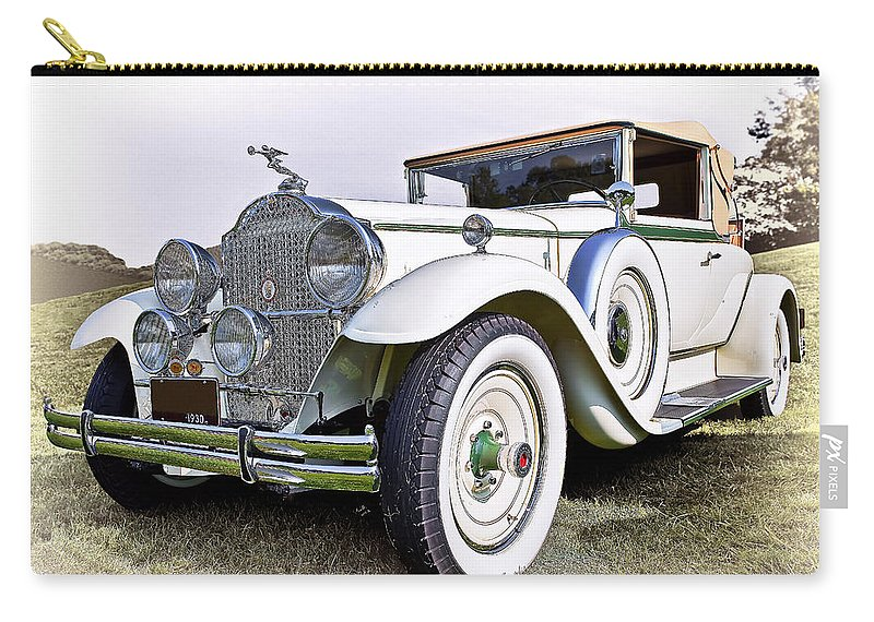 Transportation Carry-all Pouch featuring the photograph 1930 Packard Standard Eight by Marcia Colelli