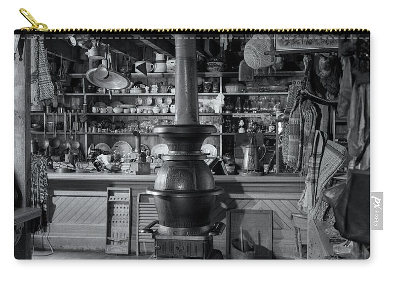 Photography Carry-all Pouch featuring the photograph 1930s Cast Iron Potbelly Stove by Vintage Images