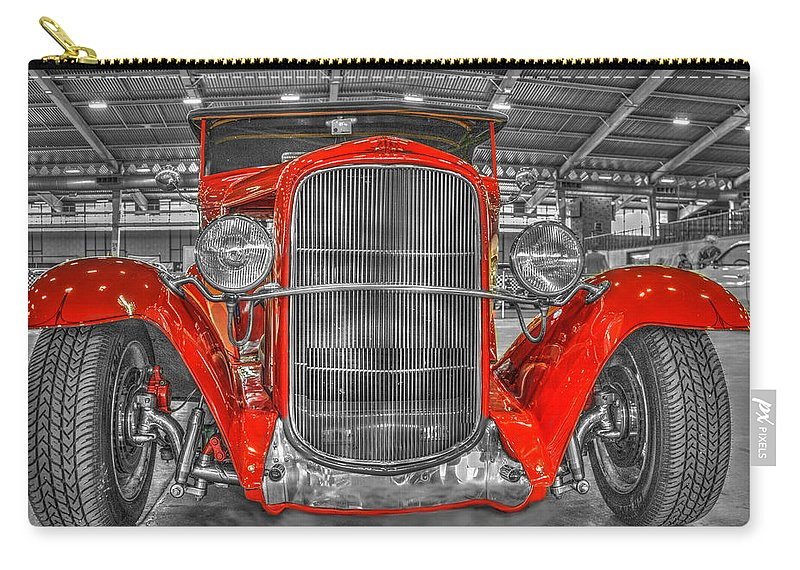 1931 Chevy Roadster Convertible Carry-all Pouch featuring the photograph 1931 Chevy Roadster Convertible by John Straton
