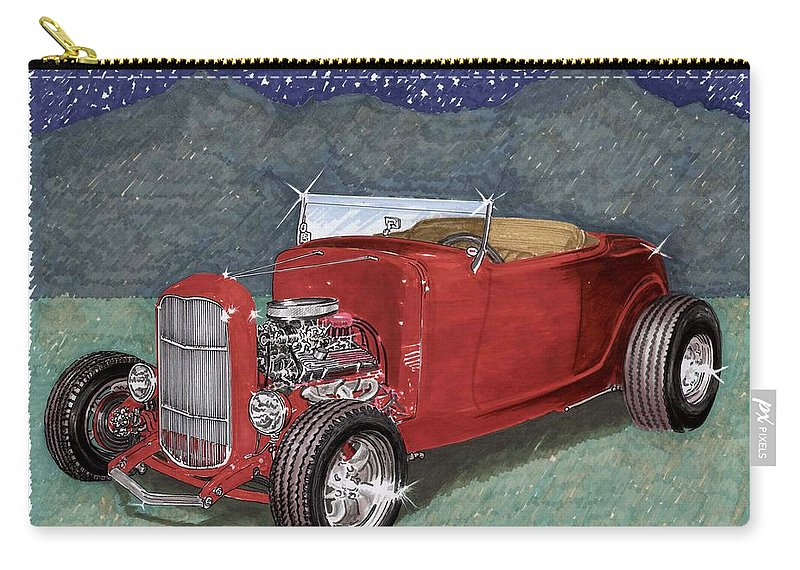 Classic Car Art Carry-all Pouch featuring the painting 1932 Ford High Boy by Jack Pumphrey