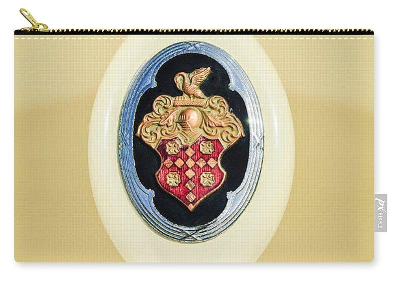 1932 Packard Emblem Carry-all Pouch featuring the photograph 1932 Packard Emblem -1078c by Jill Reger