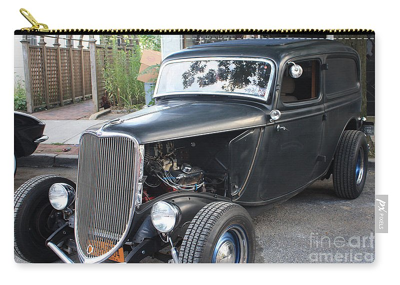 1933 Ford Two Door Sedan Front And Side View Carry-all Pouch featuring the photograph 1933 Ford Two Door Sedan Front And Side View by John Telfer