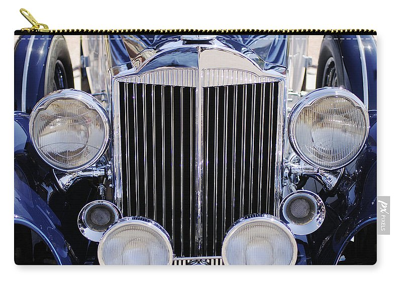 1933 Packard 12 Convertible Coupe Grille Carry-all Pouch featuring the photograph 1933 Packard 12 Convertible Coupe Grille by Jill Reger