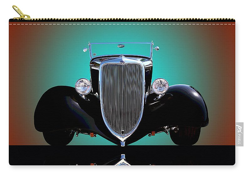 Car Carry-all Pouch featuring the photograph 1934 Ford Phaeton Convertible by Jim Carrell