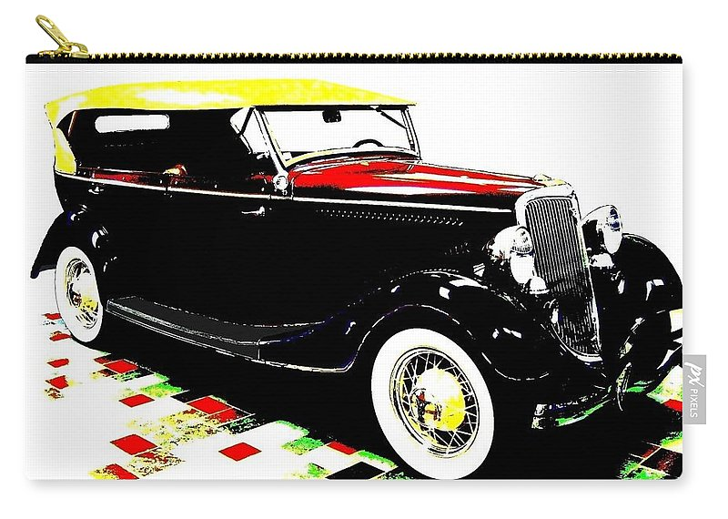 1934 Ford Phaeton V8 Carry-all Pouch featuring the digital art 1934 Ford Phaeton V8 by Will Borden