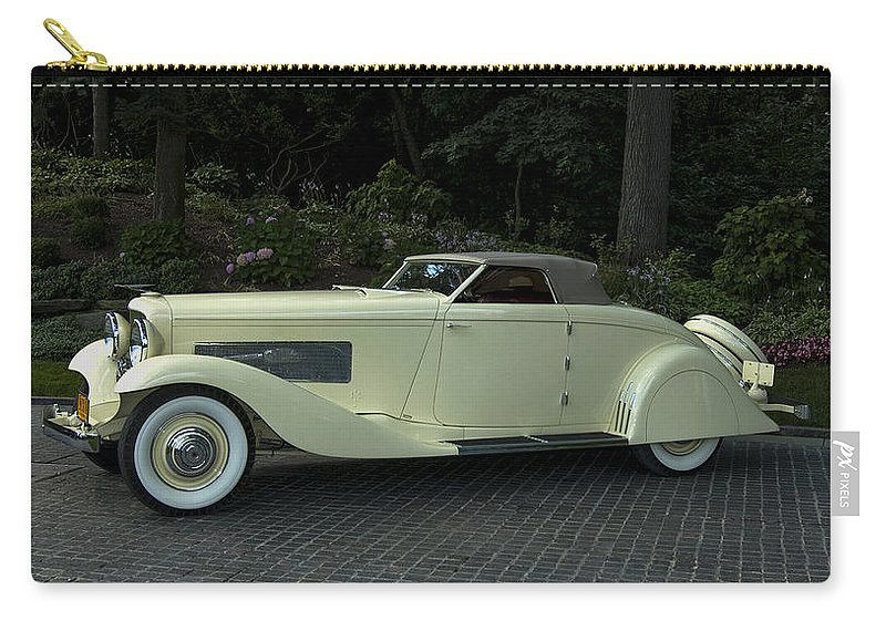 2008 Carry-all Pouch featuring the photograph 1935 Duesenberg J Roadster by Paul Cannon