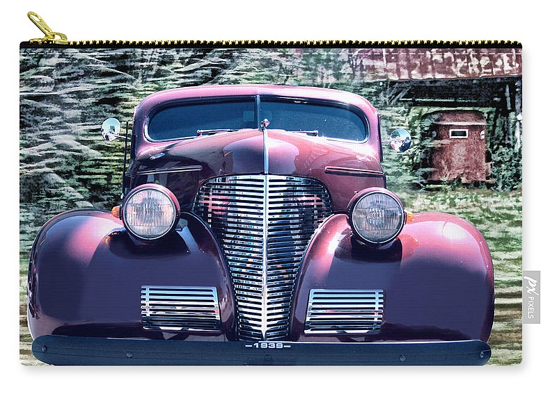 1939 Chevy Carry-all Pouch featuring the photograph 1939 Chevy Immenent Front Original by Lesa Fine