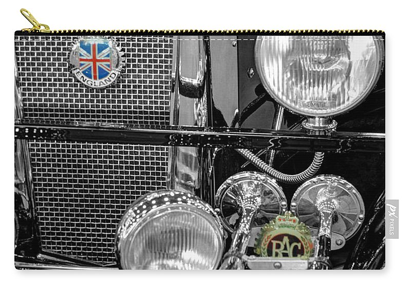 1939 Jaguar S100 Roadster Carry-all Pouch featuring the photograph 1939 Jaguar S100 Roadster Replica by John Straton