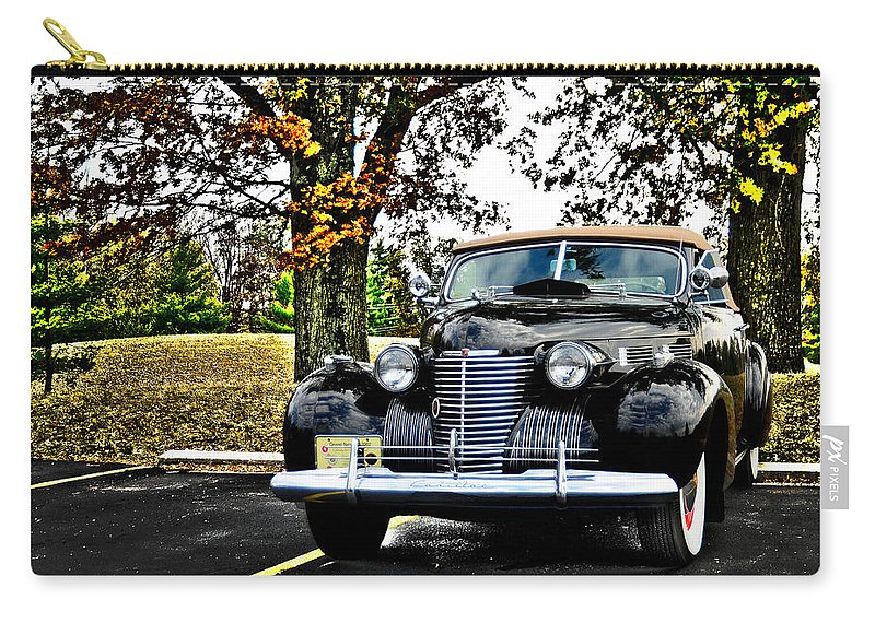 1940 Carry-all Pouch featuring the photograph 1940 Cadillac Coupe by Randall Branham