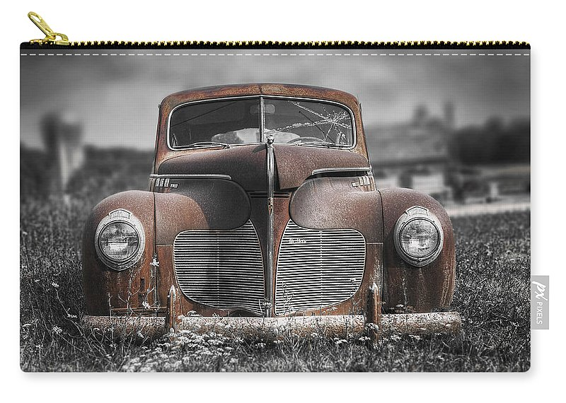 Desoto Carry-all Pouch featuring the photograph 1940 Desoto Deluxe With Spot Color by Scott Norris