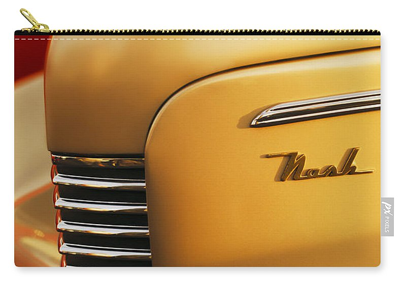 1940 Nash Sedan Grille Carry-all Pouch featuring the photograph 1940 Nash Sedan Grille by Jill Reger