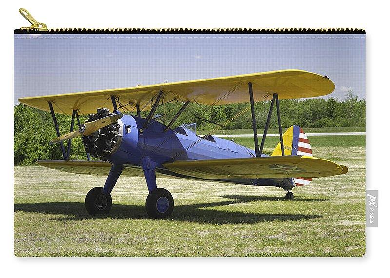 1941 Stearman A75n1 Biplane Airplane Carry-all Pouch