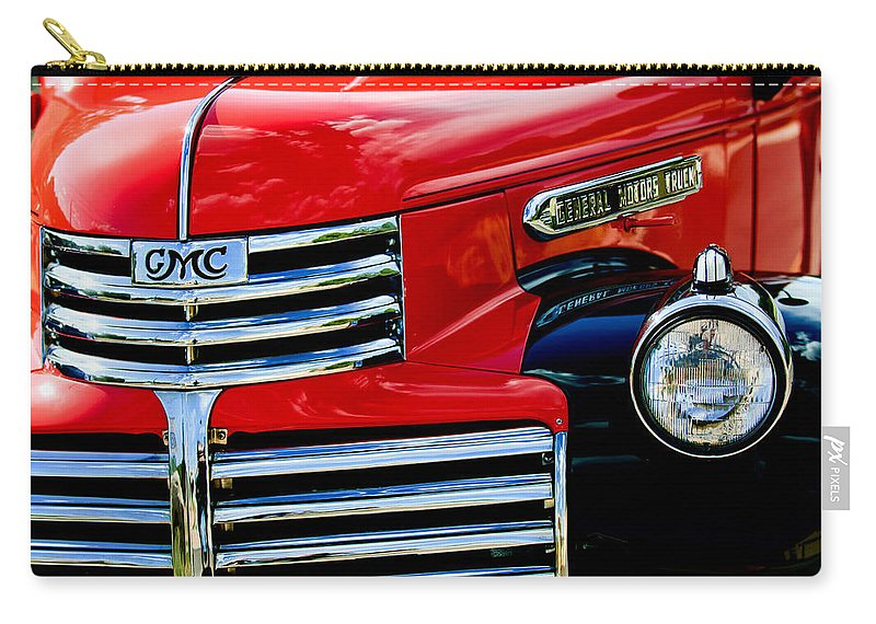 1942 Gmc Pickup Truck Carry-all Pouch featuring the photograph 1942 Gmc Pickup Truck by Jill Reger