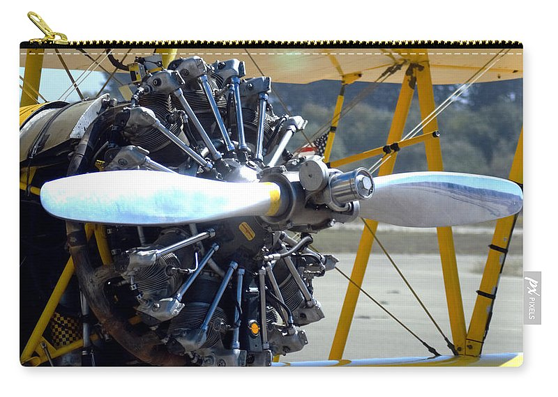 Barbara Snyder Carry-all Pouch featuring the digital art 1943 Boeing Super Stearman by Barbara Snyder