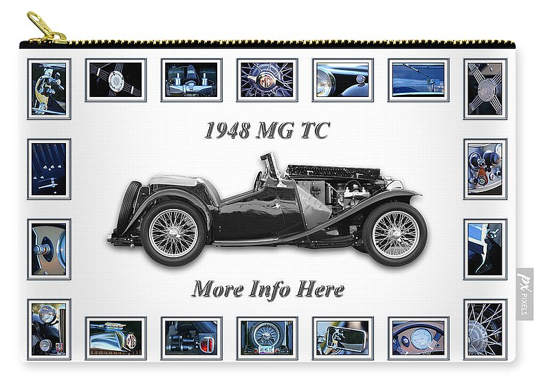 1948 Mg Tc Art Carry-all Pouch featuring the photograph 1948 Mg Tc by Jill Reger