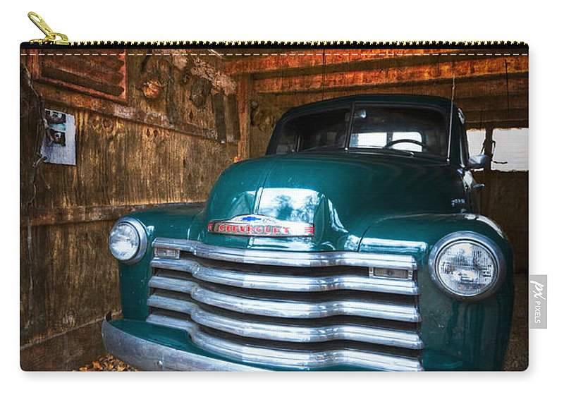 '50 Carry-all Pouch featuring the photograph 1950 Chevy Truck by Debra and Dave Vanderlaan