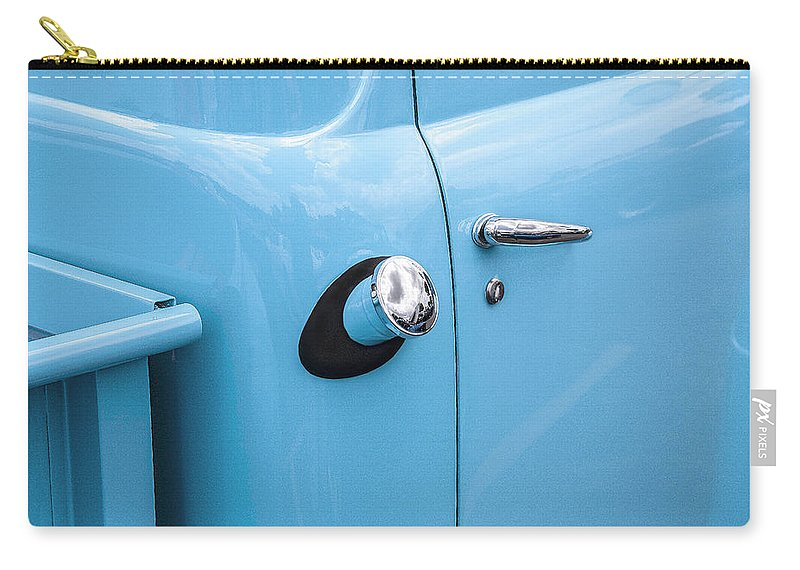 1951 Ford Carry-all Pouch featuring the photograph 1951 Ford F1 Pickup Truck by Rich Franco