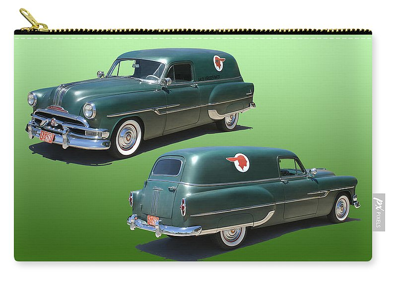1953 Pontiac Panel Delivery Carry-all Pouch featuring the photograph 1953 Pontiac Panel Delivery by Jack Pumphrey