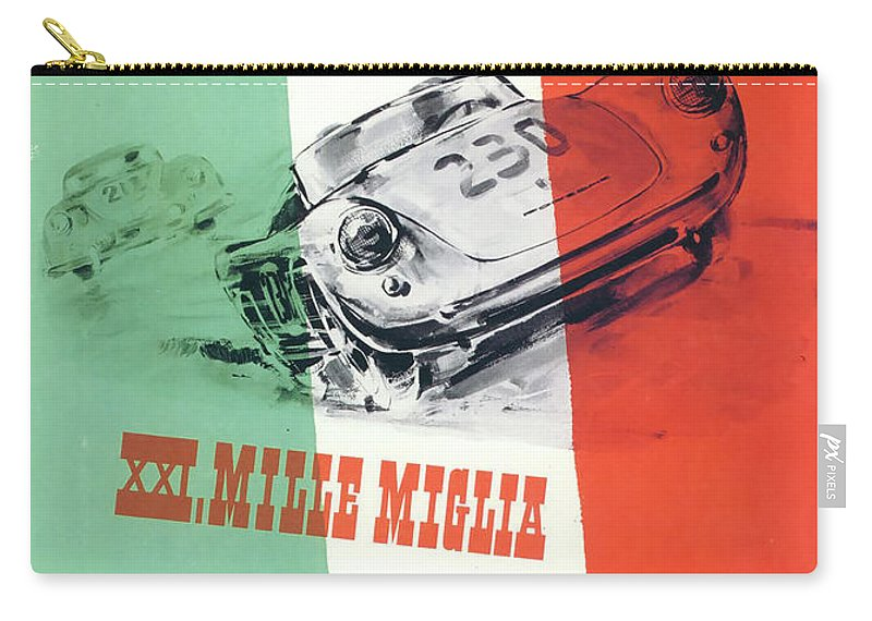 1954 Xxi Mille Miglia Carry-all Pouch featuring the digital art 1954 Xxi Mille Miglia by Georgia Fowler