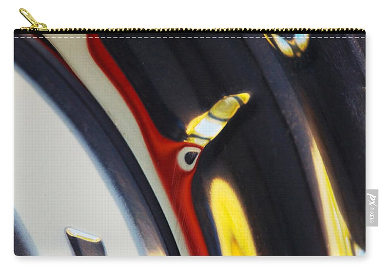 1955 Chevrolet Belair Nomad Wheel Carry-all Pouch featuring the photograph 1955 Chevrolet Belair Nomad Wheel by Jill Reger