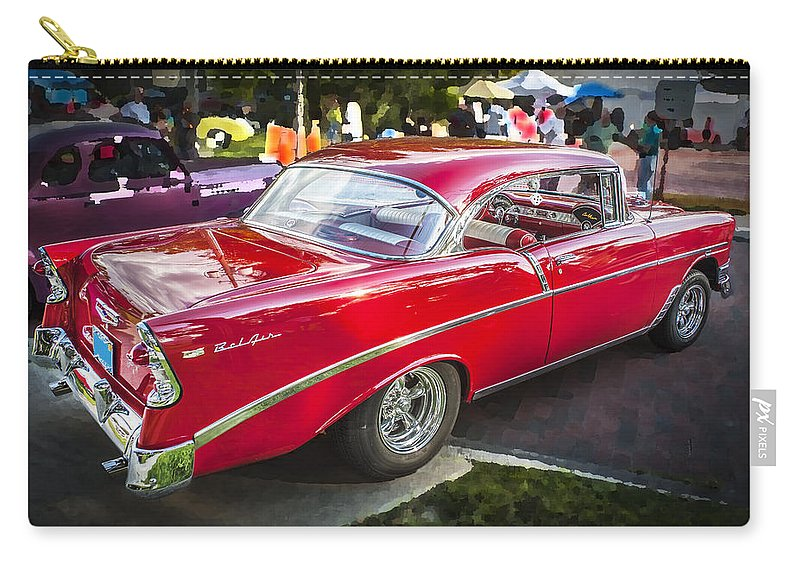 210 Carry-all Pouch featuring the photograph 1956 Chevrolet Bel Air 210 by Rich Franco