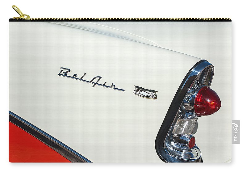 1956 Chevrolet Belair Coupe Taillight Carry-all Pouch featuring the photograph 1956 Chevrolet Belair Coupe Taillight by Jill Reger